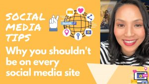 Social Media Tips Why you shouldn't be