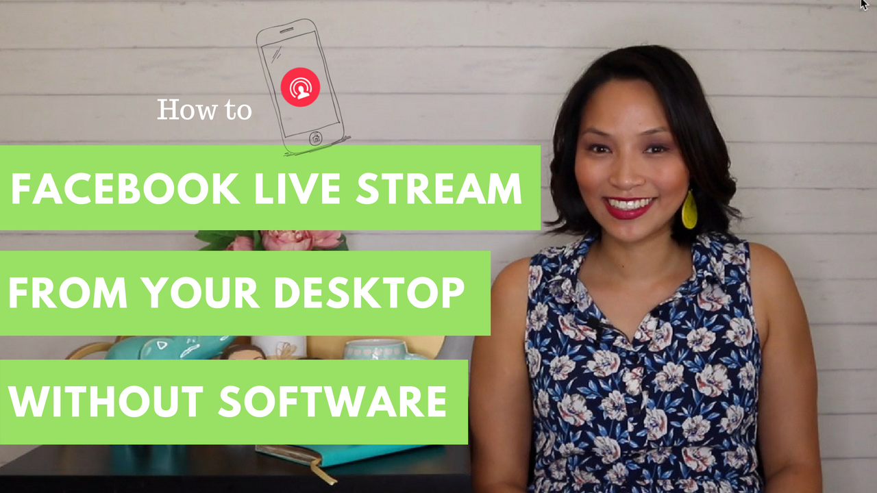 How to live stream on Facebook from desktop | Facebook Live Stream