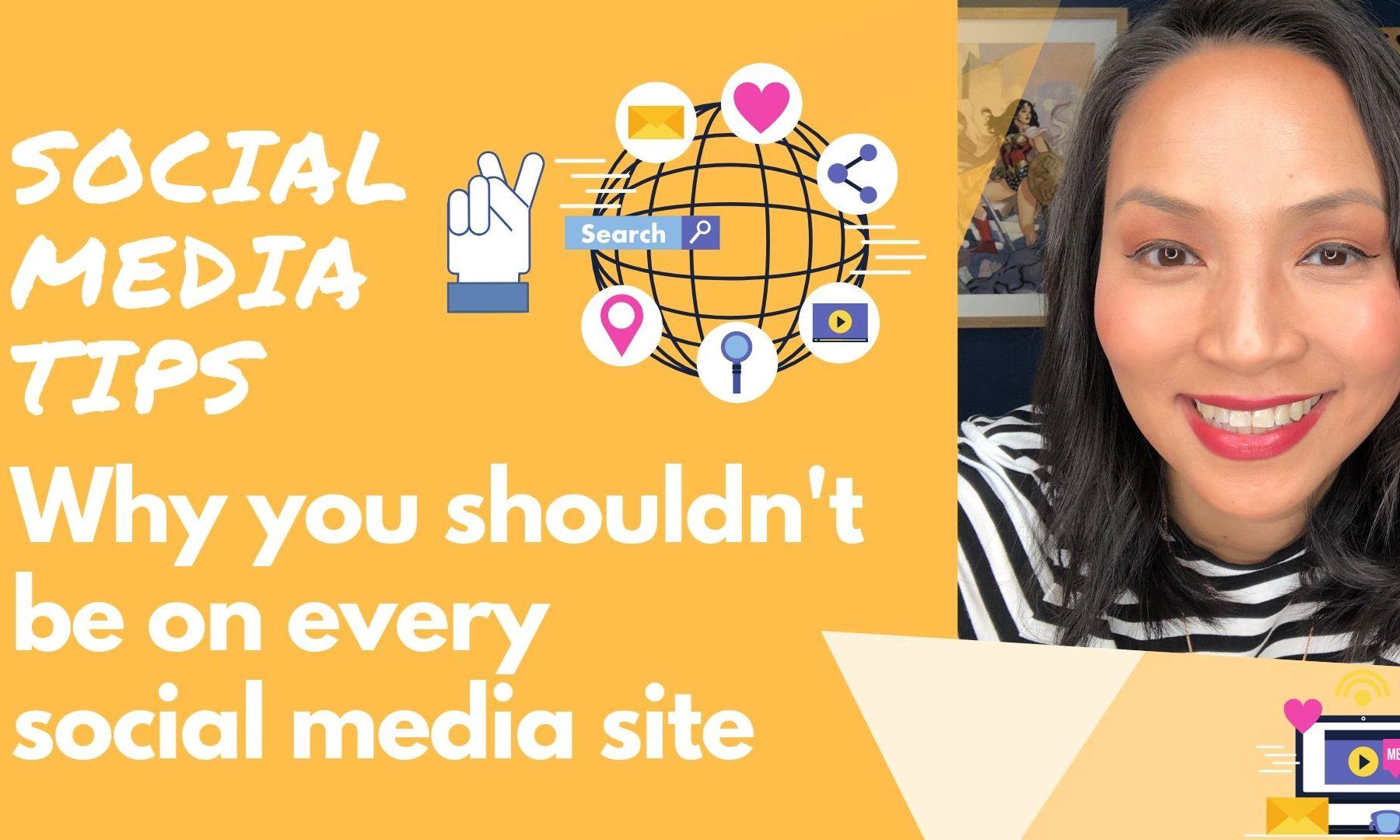 Social Media Tips Why you shouldn't be